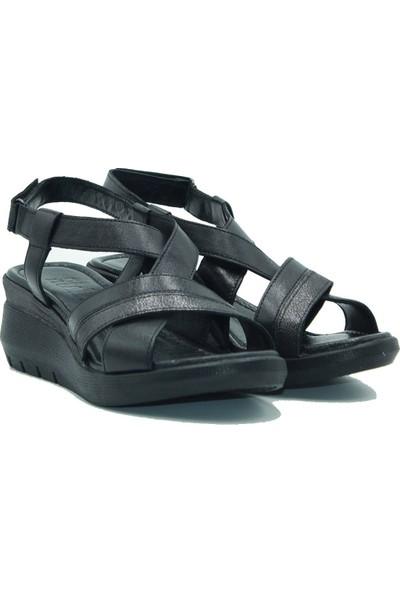 Stella Kadın Deri Sandalet 20230 Siyah