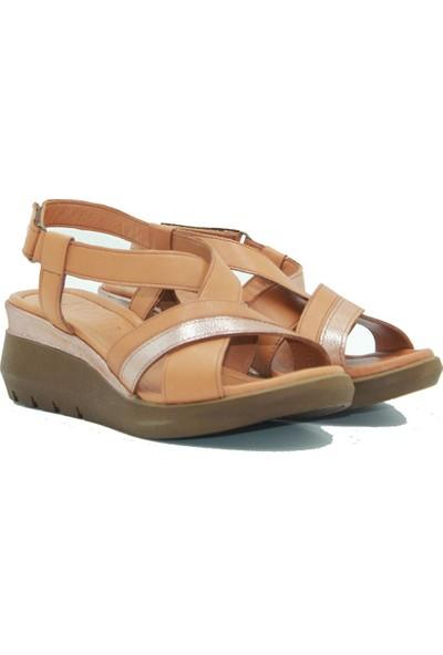 Stella Kadın Deri Sandalet 20230 Taba