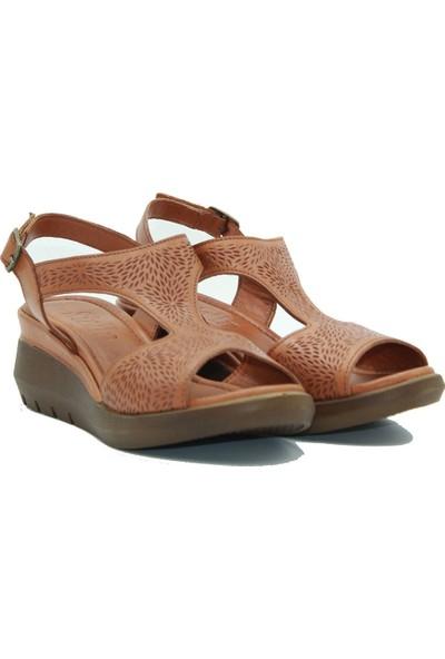 Stella Kadın Deri Sandalet 20231 Taba