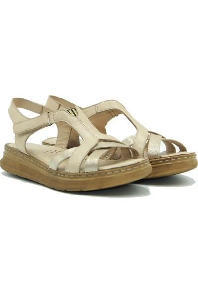 Stella Kadın Deri Sandalet 20280 Bej