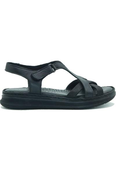 Stella Kadın Deri Sandalet 20280 Siyah