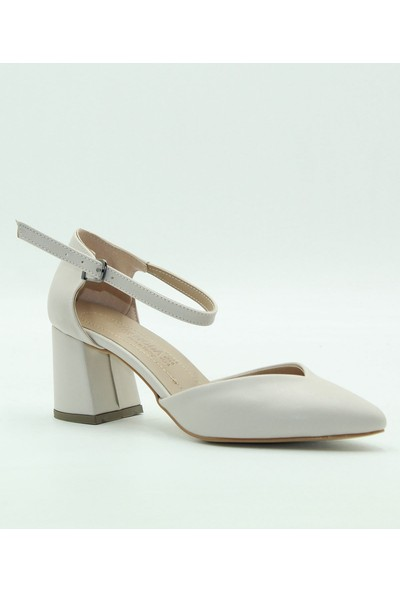 Park Moda KAdın Topuklu Ayakkabı 09-705 Ten.Cilt