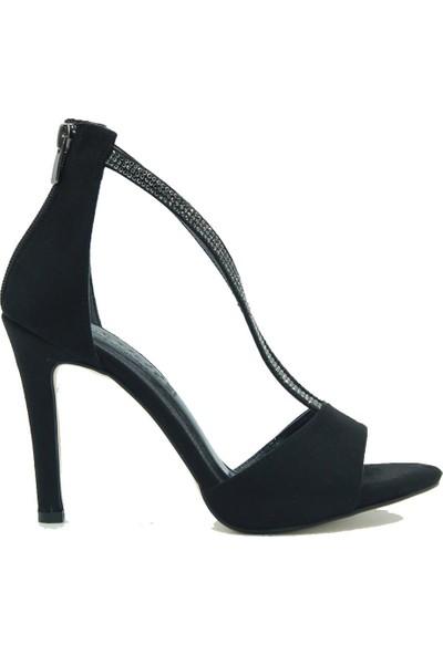 Park Moda Kadın Topuklu Ayakkabı 221-310 Siyah.Süet