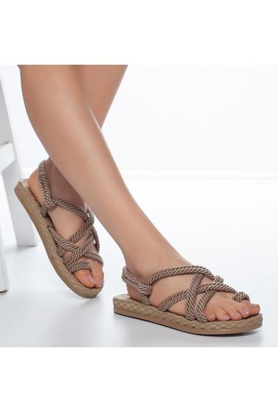 Muggo RYMW614 Kadın Hasır Sandalet