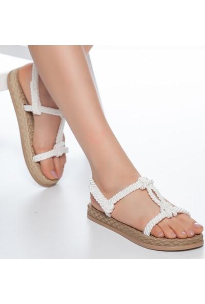 Muggo RYMW615 Kadın Hasır Sandalet