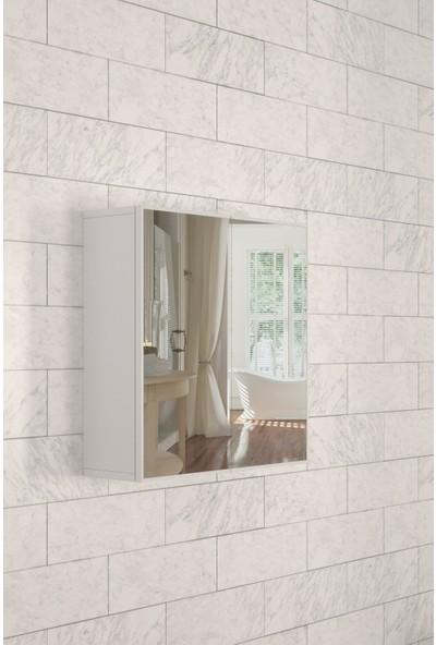 Parlavita Side Aynalı Banyo Dolabı Beyaz