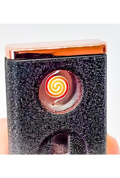 Jobon USB Şarjlı Rezistanslı Metal Çakmak Siyah