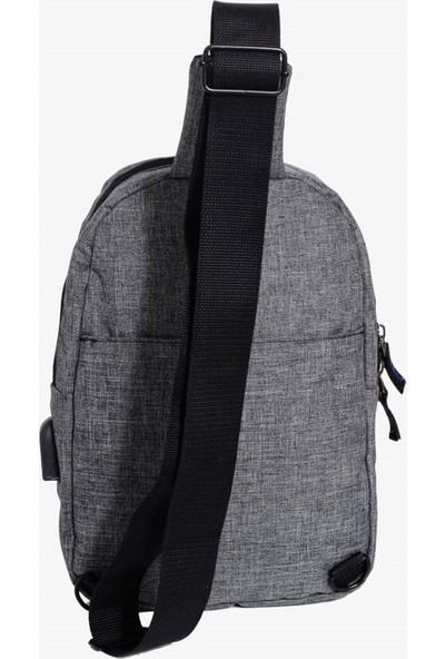 My Valice Smart Bag Usb'li Çapraz Göğüs Çantası 1505 Gri