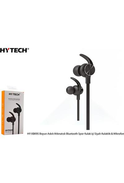 Hytech HY-XBK95 Boyun Askılı Mıknatıslı Bluetooth Spor Kulak İçi Siyah