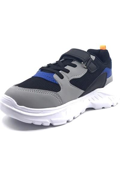 Cool 20-S06 Filet Siyah-Saks-Oranj Erkek Çocuk Yazlık Spor Ayakkabı