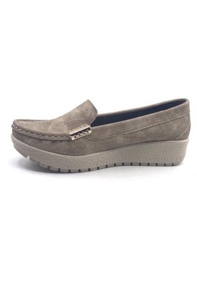 Ceylan MH139K Vizon Kot Günlük Kadın Yazlık Babet Ayakkabı