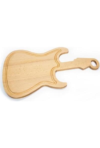 Tym Ahşap Gitar Kesme Tahtası MKS014 23 x 40 x 1,8 cm