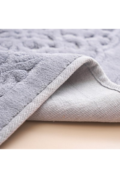 Alanur Home Damaks Cotton 2'li Paspas Gri