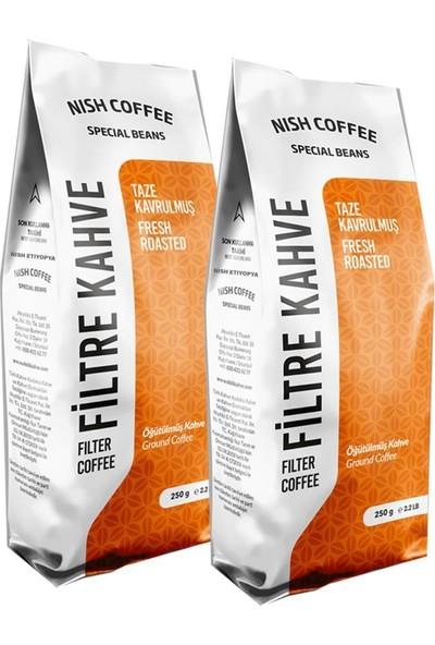 Filtre Kahve Nish Gurme Seri Etiyopya 250 gr x 2 Adet