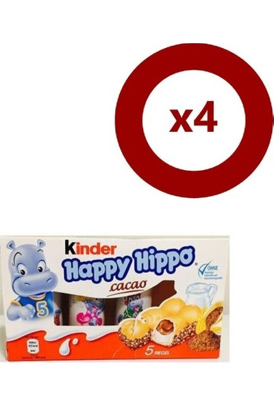 Kinder Happy Hippo x 4 Adet