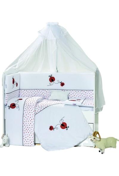 Aras Bebe 70 x 130 cm Uğur Böceği Kırmızı Uyku Seti - Nazo Model