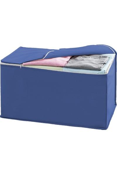 Favore Casa Yastık Hurç Sandık Tipi Yastık Hurcu Düz 63X42X34 cm Koyu Mavi