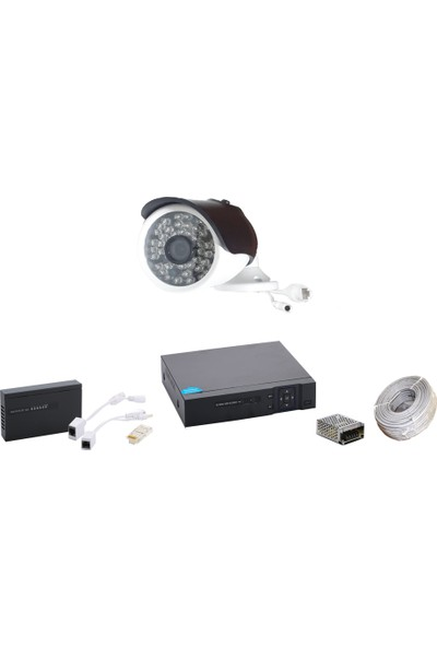 Promise 1 Kameralı Güvenlik Sistemi 4 Mp 48 LED Metal Kasa Ip Kamera Set