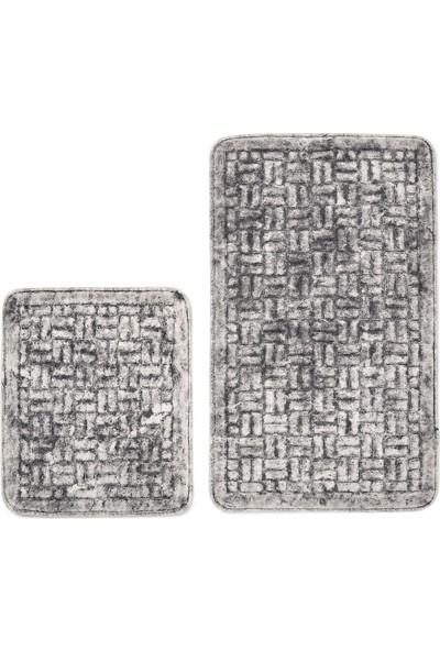 Alanur Home Domino Cotton 2'li Paspas Eskitme Gri