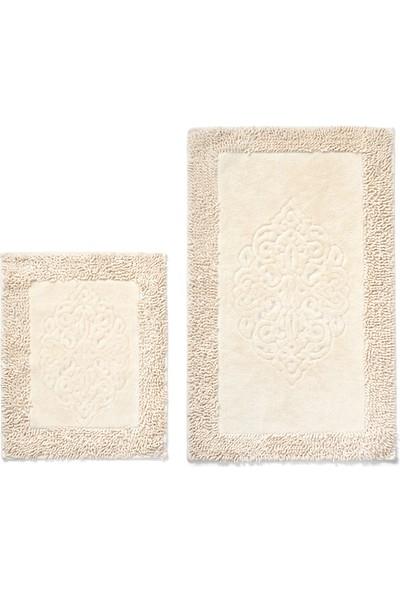Alanur Home Salina Cotton Makarnalı 2'li Paspas Cappuccino