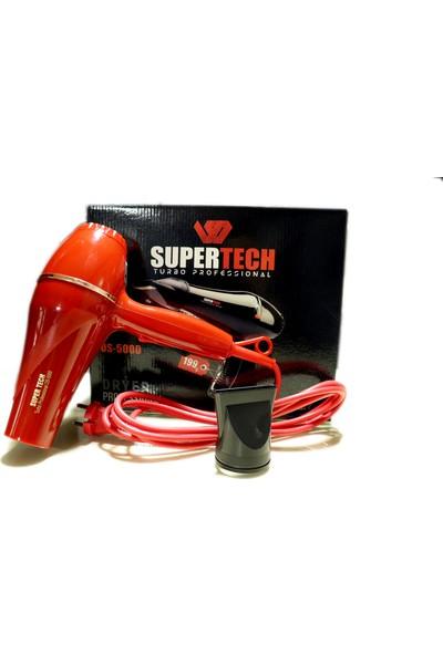 Supertech OS-5000 Profesyonel Fön ve Saç Kurutma Makinesi Kırmızı