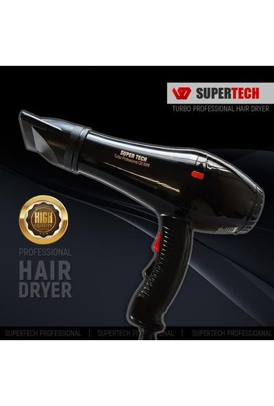 Supertech OS-5000 Profesyonel Fön ve Saç Kurutma Makinesi Siyah