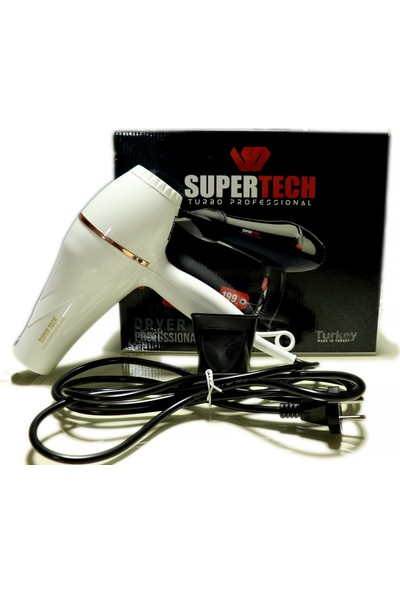Supertech OS-5000 Profesyonel Fön ve Saç Kurutma Makinesi Beyaz