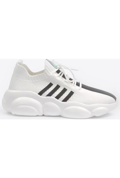 Vizon Ayakkabı Kadın Beyaz Sneaker VZN20-057Y