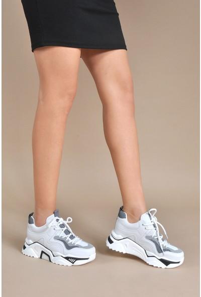 Vizon Ayakkabı Kadın Gri Sneaker VZN20-054Y