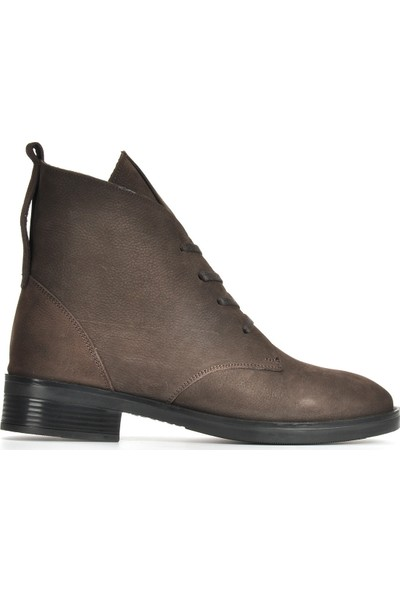 Vizon Ayakkabı Kadın Kahve-Nubuk Bot VZN19-172K
