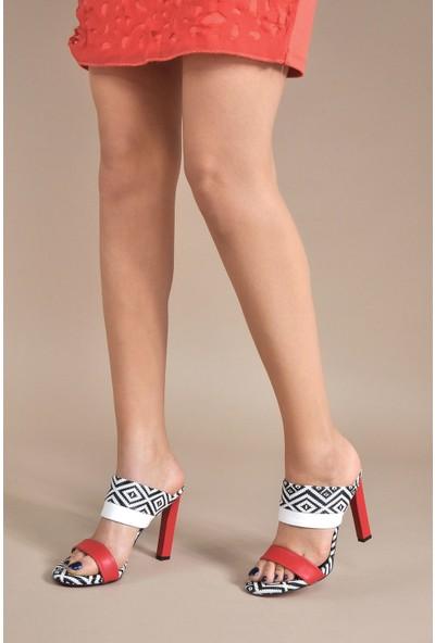 Vizon Ayakkabı Kadın Kırmızı Terlik VZN20-047Y