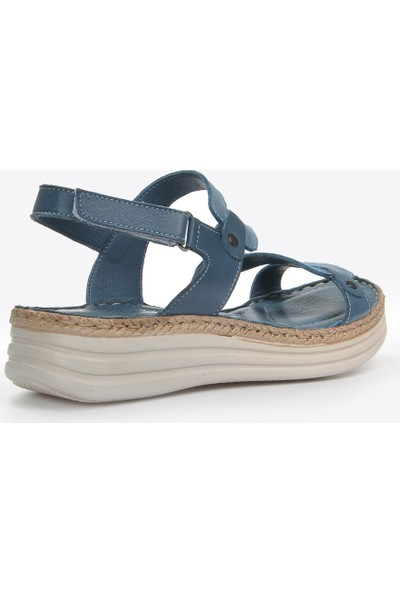 Vizon Ayakkabı Kadın Mavi Sandalet VZN20-038Y