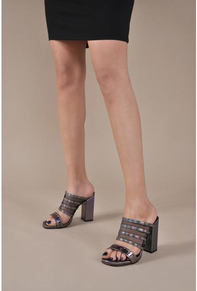 Vizon Ayakkabı Kadın Platin Terlik VZN20-019Y
