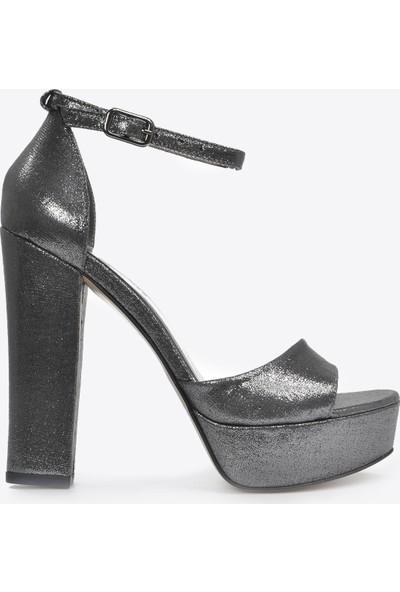 Vizon Ayakkabı Kadın Platin-Slt Klasik Topuklu Ayakkabı VZN20-031Y