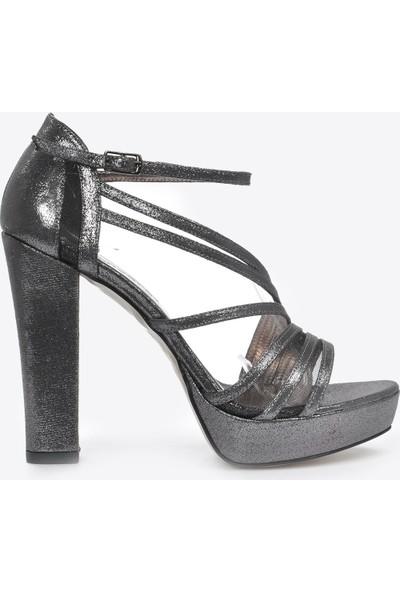 Vizon Ayakkabı Kadın Platin-Slt Klasik Topuklu Ayakkabı VZN20-035Y