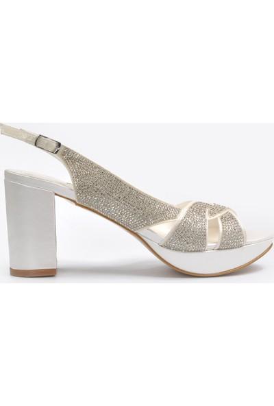 Vizon Ayakkabı Kadın Sedef Klasik Topuklu Ayakkabı VZN20-042Y
