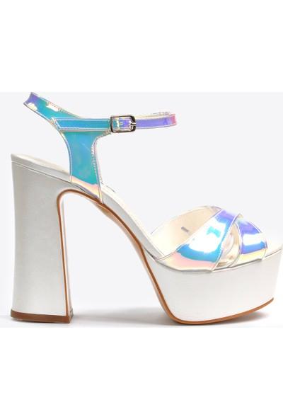 Vizon Ayakkabı Kadın Sedef Klasik Topuklu Ayakkabı VZN20-044Y