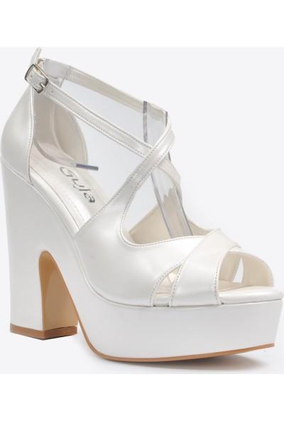 Vizon Ayakkabı Kadın Sedef Klasik Topuklu Ayakkabı VZN20-045Y