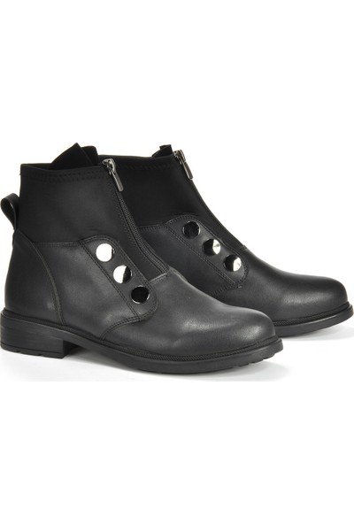 Vizon Ayakkabı Kadın Siyah Bot VZN19-173K