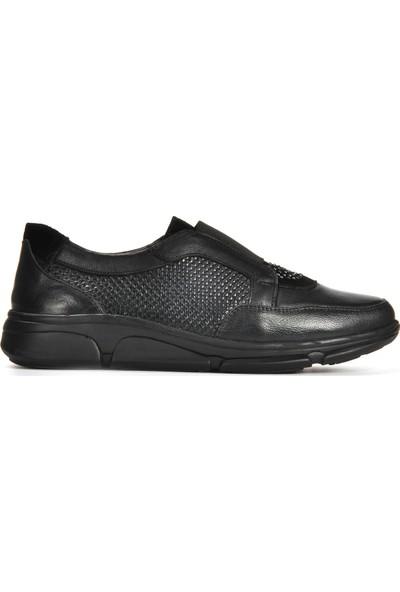 Vizon Ayakkabı Kadın Siyah Günlük Ayakkabı VZN19-166K