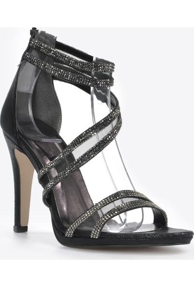 Vizon Ayakkabı Kadın Siyah Slt Klasik Topuklu Ayakkabı VZN20-036Y