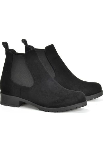 Vizon Ayakkabı Kadın Siyah-Süet Bot VZN19-170K