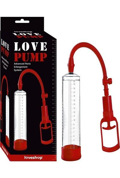Loveshop Love Pump Red 20 cm Vakum Penis Pompası