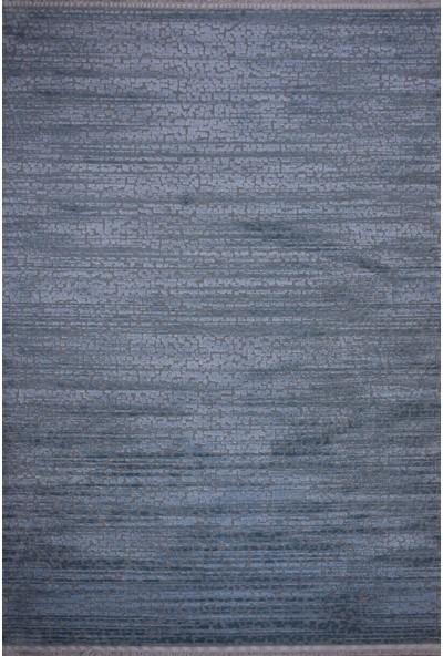 Saf Ipek Halı Yün Gri Mavi 200 x 290 cm 6m2 Halı Sln 6535