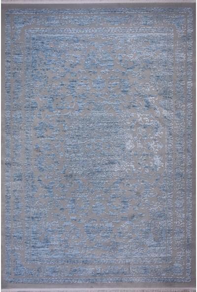 Saf Ipek Halı Yün Gri Mavi 200 x 290 cm 6m2 Halı Sln 6594