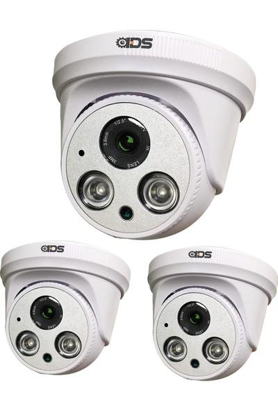 Ids - 3mp Lensli 1080P 2 Atom LED Ahd Gece Görüşlü Fullhd Güvenlik Kamerası