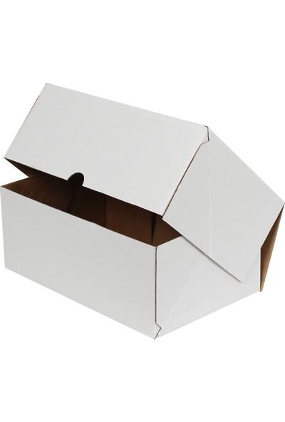 Kolici Beyaz E-Ticaret Kargo Kutusu 25 x 16 x 10 cm 25'li