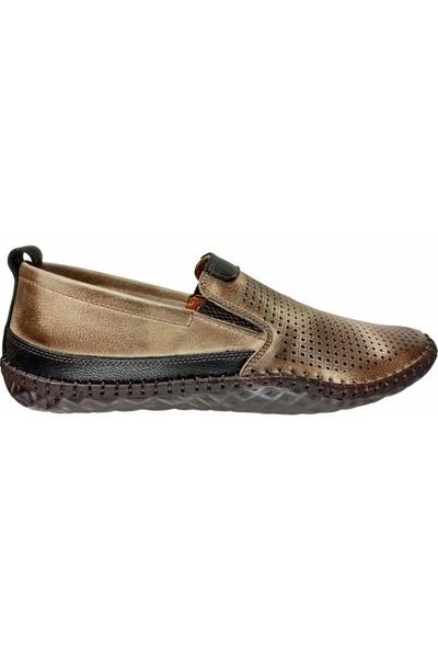 Mammamia D20YA-7040 Hakiki Deri Bağsız Erkek Ayakkabı