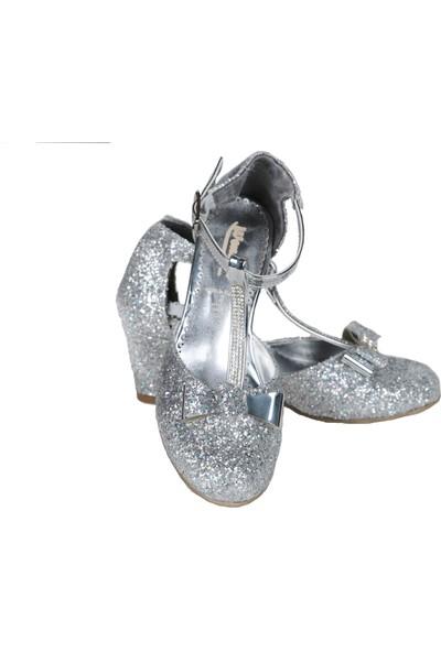 Gala Topuklu Ayakkabı Önü Taşlı