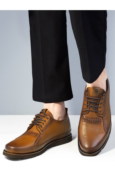 20Y Marcomen 152-11308 Erkek Deri Günlük Ayakkabı Taba